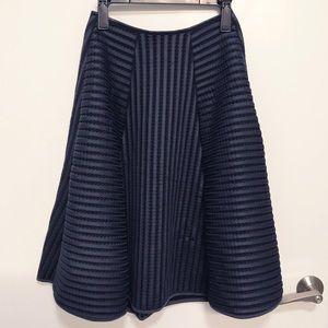 H&M Navy Blue Neoprene Mesh Circle Skirt